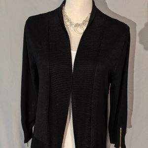 Carmen black open front cardigan